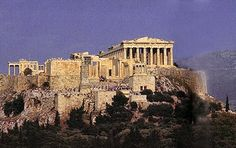 Ancient Greece Architecture | The Acropolis hill in Athens - The Parthenon is on the top right.