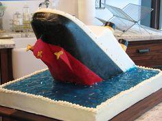 Sinking Titanic cake