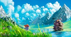 YOU CAN BUY A PRINT HERE ············ 100% painted in photoshop. Around 10h of work. PROCESS: My other Studio Ghibli illustrations: See more on my ghibli gallery ----- More of my work: www.syntetyc...