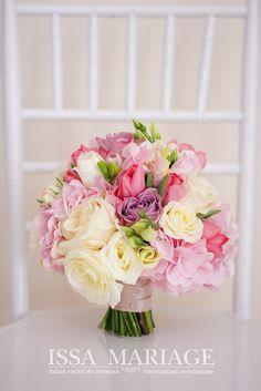 buchet mireasa issaevents valcea hortensia roz