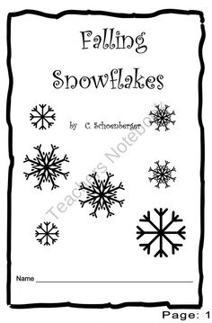 Falling Snowflakes product from Kinder-Blossoms on TeachersNotebook.com