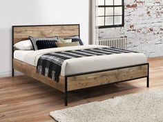 Urban Bed Wooden Bed Birlea S Urban Bed Rustic Wooden Bed