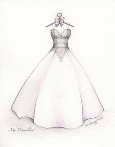First Anniversary Sketch gift from the husband to his wife. Sketch by Catie Stricker-Howell : First Anniversary Sketch gift from the husband to his wife. Sketch by Catie Stricker-Howell Dress Drawing Easy, Dress Design Drawing, Dress Design Sketches, Fashion Design Drawings, Wedding Dress Drawings, Wedding Dress Illustrations, Fashion Illustration Sketches, Fashion Sketches, Design Illustrations