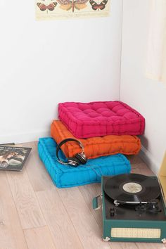 in lieu of a new sofa, i am going to get something like this / Tufted Corduroy Floor Pillow - Urban Outfitters