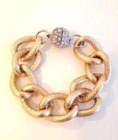 i want!!!! Chunky Gold Chain Bracelet. $26.00 USD, via Etsy.