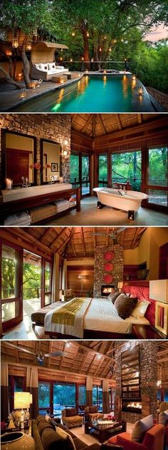 River House at Morukuru Lodge in Madikwe, South Africa. A romantic retreat perched on the banks of Marico river. #Hochzeitreise #Honeymoon #Hotel