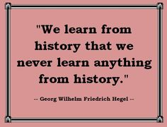 """A twist on the old """"history repeats itself"""" mantra..."""