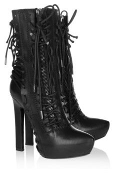 These are just so ridiculously hot!    Haider Ackermann  Lace-up leather ankle boots  $3,315