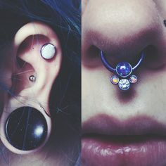 Yesterday, I drove up to Hard Luck Body Worx in Fond du Lac, WI. While there, Cody anodized my septum ring to a beautiful blurple, and he pi...