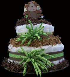 Monkey Diaper Cake!