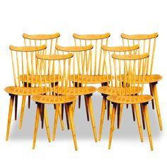 8 chaises scandinaves 1950 > Boutique en ligne : www.dedde-art.com