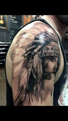 North american indian tattoo