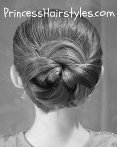 "Hairstyles For School           ""Tuck And Wrap"" Bun and Ponytail Hairstyles.      Quick And Easy School Hairstyles Using A Topsy Tail!"