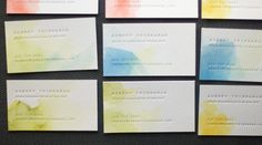 Watercolor name cards