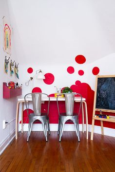 The Playroom's Accent Wall (Featured in HGTV Magazine)