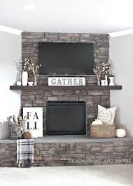 mantel decor with tv - Google Search