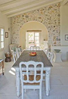 47 Ideas For Kitchen Interior Greek House Stone Interior, Interior Design Boards, Kitchen Interior, Interior Modern, Interior Paint, Room Interior, Interior Architecture, Room Ideias, Küchen Design