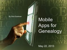 Mobile apps for genealogy