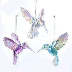 Iridescent Hummingbird Ornaments, 3 Assorted | KURT S. ADLER