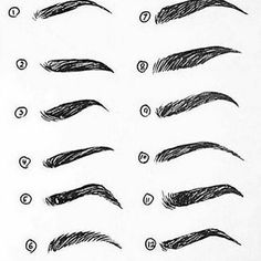 What's your favourite brow? I like 4, 9 & 10. Wish my brows were 9 though…