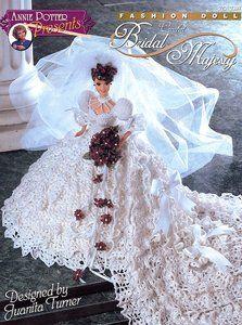 Image detail for -Bridal Majesty Dress for Barbie Annie's Crochet Pattern Leaflet RARE ...
