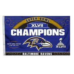 Baltimore #Ravens Super Bowl XLVII Champs Flag. Click to order! - $24.99