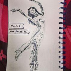 Jours 6 7 8 Une danseuse, des yeux et un portrait  #dessin #drawing #illustration #portrait, #Audrey_Hepburn #danse #danseuse #dancer #oeil #eyes #yeux