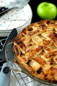 Savory Apple, Chicken & Blue Cheese Pie