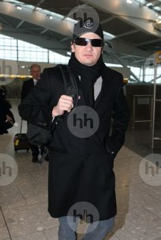 Jeremy Renner  sighting at The Soho Hotel AND departs from Terminal 5 at Heathrow Airport, London, following last night's BAFTA Awards. on February 11, 2013 in London, England.