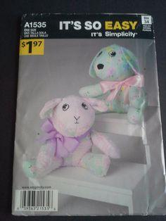 Simplicity A1535 diy stuffed dog diy by BloomingRoseCrochet