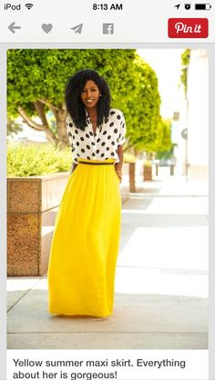 Maxi Skirt | Women's Fashion | Fall 2014