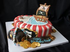 Pirate birthday cake. I see this in my future too!