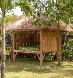 Modern Tropical House, Tropical House Design, Bamboo House Design, Bamboo Building, Hut House, Garden Tool Shed, House On Stilts, Bamboo Architecture, Village House Design