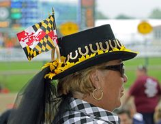 Hats at the 134th Preakness Stakes, Baltimore, MD. Women fashioning all types of spring hats this weekend.