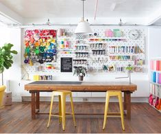 Amazing organization in a craft studio