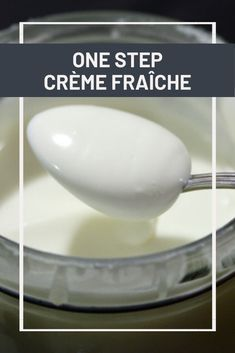 How to Make Crème Fraîche (in One Easy Step! Milk Recipes, Cream Recipes, Cheese Recipes, Cooking Recipes, Sauce Recipes, How To Make Cheese, Food To Make, Making Cheese At Home, Make Creme Fraiche