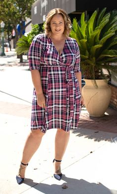 Flatter your curves in this body-skimming wrap dress. Order this plus size flattering wrap dress in a variety of colors online now at Kiyonna Clothing. Dressy Dresses, Summer Dresses, Wrap Dresses, Plus Size Dresses, Plus Size Outfits, Plus Size Fashion For Women, Plus Fashion, Curvy Outfits, Curvy Clothes