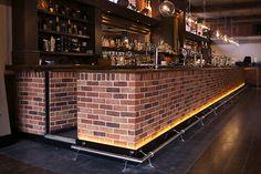The Terrace Bar in Leicester, illuminated with Ledridge Lighting LED ribbon. Led Lighting Solutions, Leicester, Light Up, Bespoke, Terrace, Ribbon, Bar, Home Decor, Taylormade