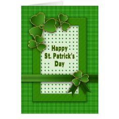 Patrick& Day - Shamrocks - Green with Gold Card - st patricks day gifts Saint Patrick's Day Saint Patrick Ireland irish holiday party Atc Cards, Cricut Cards, Homemade Birthday Cards, Homemade Cards, St. Patrick's Day Diy, St Patricks Day Cards, St Patrick's Day Gifts, Saint Patrick, Scrapbook Cards