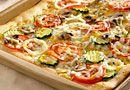 Three-Cheese Garden Pizza