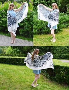 Product description for silk scarfs Scarf size - cm x cm material - silk satin Growth of the model on the photo m ' please note if you are higher Beach Bridesmaids, White Angel Wings, White Scarves, Scarf Styles, Silk Satin, Different Styles, Scarf Wrap, Gifts For Mom, Ballet Skirt
