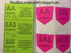 FREE Similar Triangles Foldable for Geometry Interactive Notebook