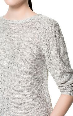 SEQUINNED SWEATER - Knitwear - Woman - ZARA Canada