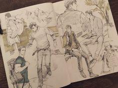 Sketchbook Drawings, Art Sketches, Art Drawings, Character Art, Character Design, Art Alevel, Sketchbook Inspiration, Marker Art, Anime Artwork