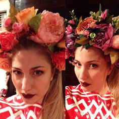 @hippypoppins if I was to buy one of these and make a matching latex dress which one would I get and what would the dress look like? #hippypoppins #headdress #flowercrown #flower #flowerheaddress #floral #darklips #limecrimesaint
