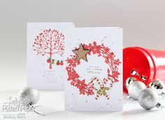 Quick handmade Christmas cards. #BasicEssentials #LadyPatternPaper #JowilnaNolte