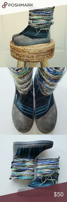 TOMS Grey Suede Nepal Boots Toms grey suede nepal boots  *Size 6 *Genuine Leather/Polyester upper and faux fur lining  *New without a box  *No trade TOMS Shoes