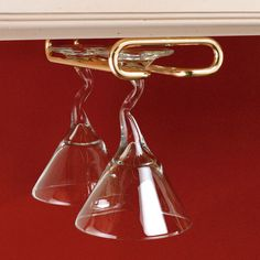 "Rev-A-Shelf 11"" Hanging Wine Glass Rack   AllModern"