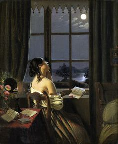 """""""Die Sentimentale"""" by Johann Peter Hasenclever. 19th Century"""