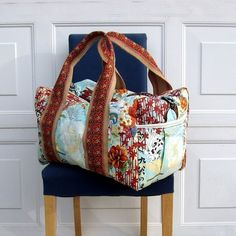 Quilted Travel Duffel Pattern por StudioCherie en Etsy